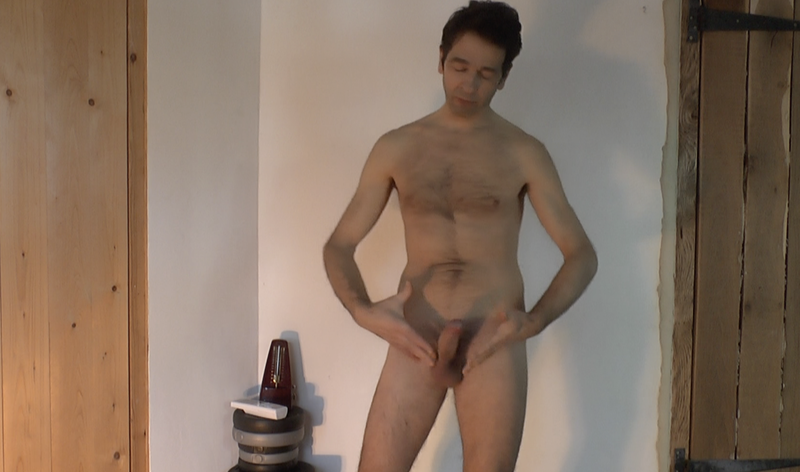 very small thumbnail video image of erection coaching video looking at dick