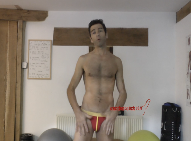 very small thumbnail video image of erection coaching video