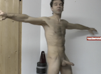 video thumbnail of naked man semi erect erectiondr.com presenting and instructing exercise session to make your erections harder
