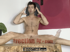 video thumbnail of naked man gesturing to mind whilst presenting harder erection video. His erection can just be seen at the top of the erectiondr.com banner text