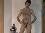 video thumbnail of naked man presenting