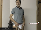 Thumbnail of video showing erection in underwear