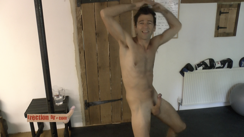 video thumb of naked man erect penis