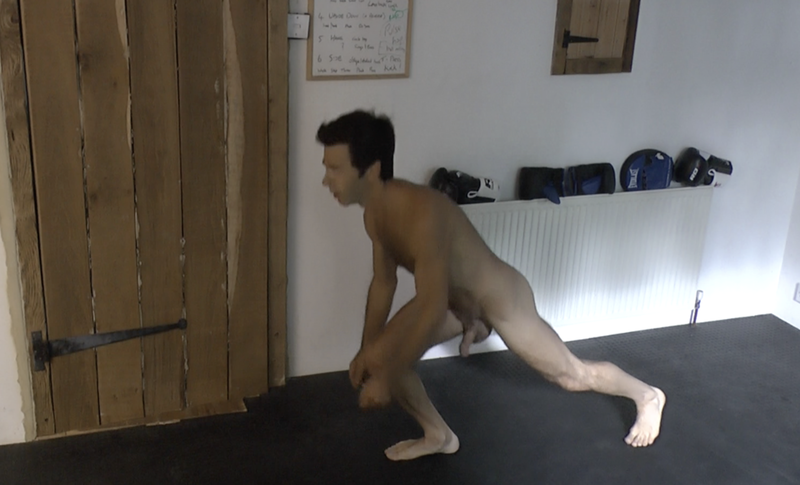 video thumb of personal trainer for erection demonstrating HIT training naked a geat way to get HARDer erections